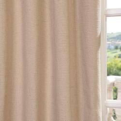 Exclusive Fabrics Natural Linen Blend Grommet Curtain Panel