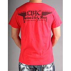 Laguna Beach Jean Co Men's Crew Neck Santa Monica Beach Red 2012 Graphic Tees