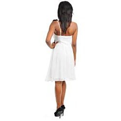 Stanzino Women's Pleated Cinched Waist Dress with Single Strap Detail