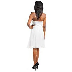 Stanzino Women's Pleated Cinched Waist Dress with Single Strap Detail - Thumbnail 1
