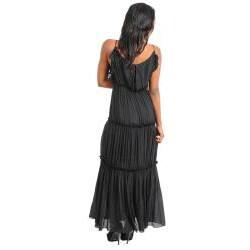 Stanzino Women's Halter Tiered Maxi Dress - Thumbnail 1