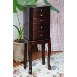 Espresso Jewelry Armoire Chest
