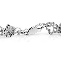 ASPCA Tender Voices Silver 1/10ct TDW Diamond Paw Bracelet (I-J, I2-I3) - Thumbnail 1
