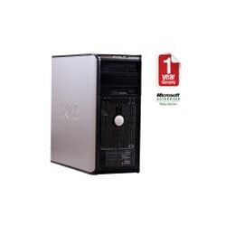 Dell Optiplex 760 Intel Core 2 Quad 2.4GHz CPU 4GB RAM 500GB HDD Windows 10 Pro Minitower Computer (Refurbished) - Thumbnail 1