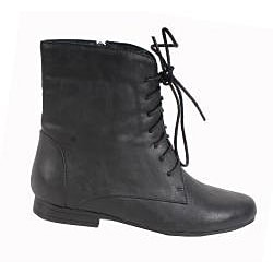 Elegant by Beston Women's 'Meley-3' Black Ankle Boots - Thumbnail 1