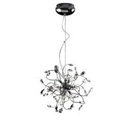 Joshua Marshal Home Collection Modern 12-light Chrome Crystal Adjustable Hanging Pendant - Thumbnail 1
