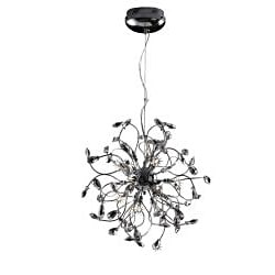 Joshua Marshal Home Collection Modern 18-light Chrome Crystal Encompassed Adjustable Hanging Pendant - Thumbnail 1