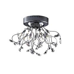 Joshua Marshal Home Collection Modern 10-light Chrome Crystal Encompassed Flush Mount Ceiling Fixture - Thumbnail 1