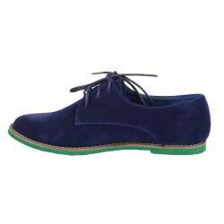 XICA by Beston Women's 'Joe-01' Blue/ Green Oxfords - Thumbnail 1