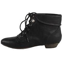 Modesta by Beston Women's 'Tiko-01' Black Ankle Booties - Thumbnail 1