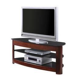 OSP Design Wood/ Glass TV Stand - Thumbnail 1