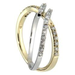 D'sire 10k Gold 4/9ct TDW Diamond Two-tone Ring (H-I, I2-I3)