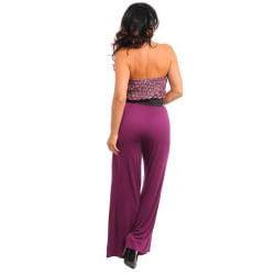 Stanzino Women's Plus Sequin Strapless Jumpsuit with Belt - Thumbnail 1