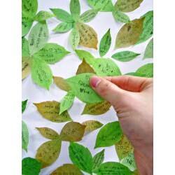 Leaf-it Original Brown Medium Sticky Notes (Pack of 20)