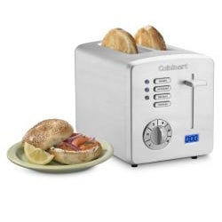 Cuisinart Brushed Stainless Steel 2-slice Toaster with Countdown Timer - Thumbnail 1