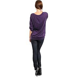 Stanzino Women's Scoop Neck 3/4 Sleeve Top