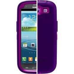 OtterBox Defender Boom Purple Protective Case for Samsung Galaxy S3 S III i9300 With Car Charger, Velcro Tie
