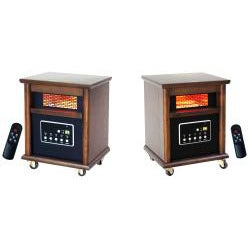 Lifesmart Zone 4 Element 1200 Square Foot Infrared Heaters with Remote (Set of 2) - Thumbnail 1
