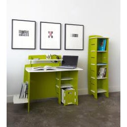 Legare Kids' 43-inch Green/ White Desk with File Cart - Thumbnail 1