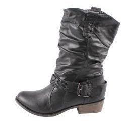 Blossom by Beston Women's 'Tasha-1' Cowboy Boots - Black - Thumbnail 1