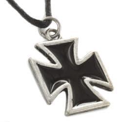 West Coast Jewelry Two-tone Iron Cross Necklace