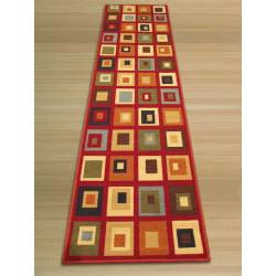Euro Home Red/ Beige Rug (1'8 x 4'11) - Thumbnail 1