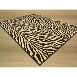 Euro Home Black Rug (5' x 6'6) - Thumbnail 1