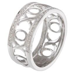 Sterling Silver 1/5ct TDW XOXO Diamond Ring