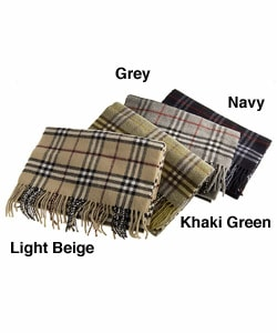Burberry Plaid Wool Scarf - Thumbnail 1