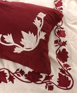 Natural Linen Queen Duvet Cover Set (India) - Thumbnail 1