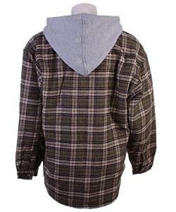 Moose Creek Men's Dakota Hooded Flannel Shirt