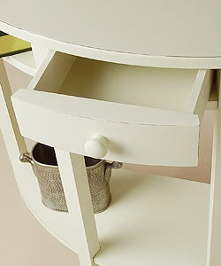Shop Half Moon White Console Table Free Shipping Today