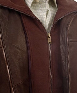 Columbia Men's Leather  Bib Hipster Jacket