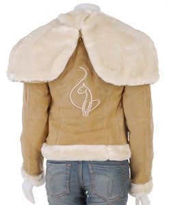 Shop Baby Phat Suede Shearling Jacket Free Shipping