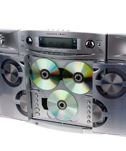 Shop Sharper Image Sleek 3 Disc Cd Amfm Stereo With Three Way