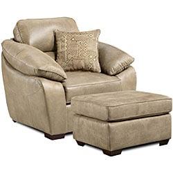 Sierra Camel Sofa and Loveseat Set