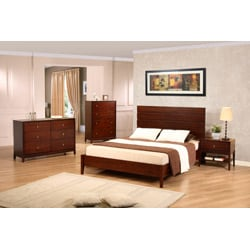 Empire Cherry Finish Queen-size Bed - Thumbnail 1