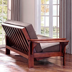 Thumbnail All Wood Futon Set With Table Arm And Mattress