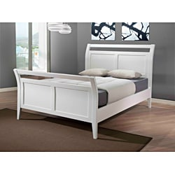 Aristo White Gloss Queen Bed - Thumbnail 1