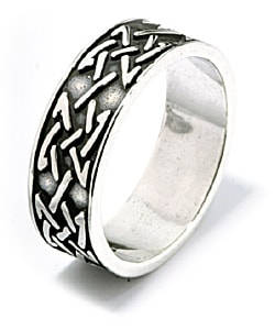 Carolina Glamour Collection Celtic Knot Sterling Silver Ring