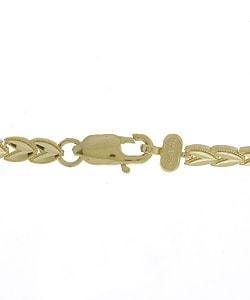 14k Gold 7-inch Leaf Bracelet - Thumbnail 1