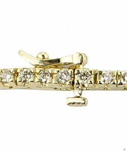 14k Gold 2ct Diamond Tennis Bracelet (K, SI) - Thumbnail 1