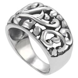 Journee Sterling Silver Filigree Ring