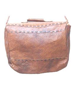 Handmade Leather Satchel (Nepal) - Thumbnail 1