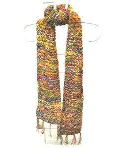 Himalayan Handmade Silk Scarf (India) - Thumbnail 1