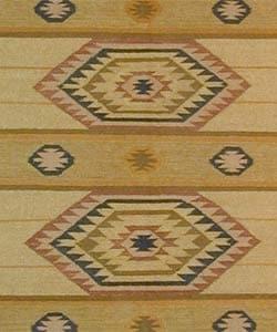 Hand-made Tahoe Wool Flat-weave Rug (8' x 10')