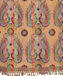 Jaipur Peacock Throw/ Bedspread (India) - Thumbnail 1