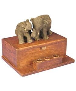 Two Elephants Business Card Holder - Thumbnail 1