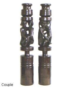 Set of 2 Masai Candlesticks (Tanzania)