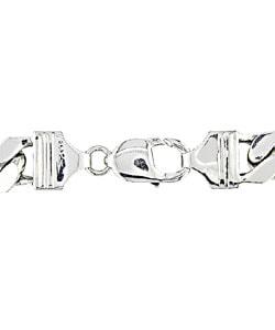 Miadora Sterling Silver Men's 9 inch 10 mm Bracelet - Thumbnail 1
